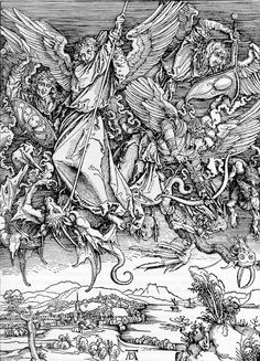 Albrecht Dürer - St. Michael's fight against the dragon