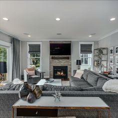 Inviting great room with a gas fireplace, engineered hardwood flooring, recessed lights and double French doors to the back deck.Listed in Vienna, Virginia for $1.399M by The Casey Samson Team is a Wall Street Journal Top Team in Northern Virginia.