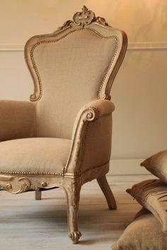 Fotel Francuski Ludwik XV Antyk z XIX wieku po całkowitej renowacji, piękna…
