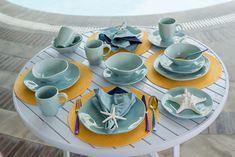Coleção Ryo Blue Bay: a beleza do imperfeito na sua mesa posta! Foto: Karla Rudnick.