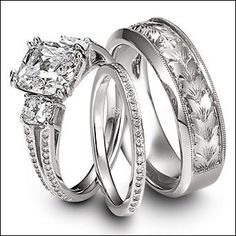 bride and groom wedding ring sets 20