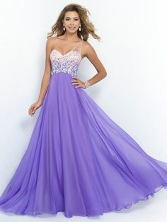 A-line Princess One-shoulder Sleeveless Crystal Floor-length Chiffon Dresses.  Women s DressesProm Dresses 2015A Line Prom DressesFormal ... a9edb482de4f