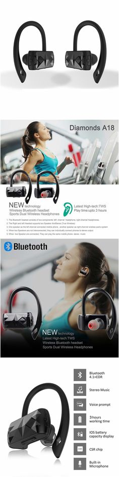 True Bluetooth Wireless Noise Cancelling Ear Hooks Headphones for android and iPhone. Great for home workout, gym and running without tangles! Fits well into workout and gym clothes. Great gift products for audio speakers, android Samsung Galaxy, LG, Sony, Windows 10, Macbook, Laptop and Apple iPhone 7 users, men and women and those who are active in yoga, cardio, health and fitness and travel. Take music anywhere you go, packs in purses, luggages and backpacks. #Technology #gizmo…