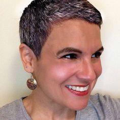 Grey hair at 43