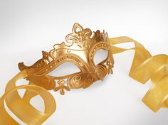 Baroque Gold Masquerade Mask   Gold Rhinestone by SOFFITTA on Etsy