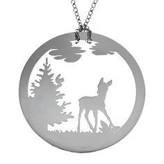 Bambi im Wald: Kette / Halskette mit Anhänger Ketten Ketten mit ...