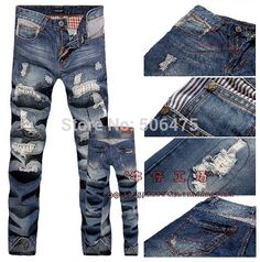 men's fashion jeans men big sale autumn clothes new fashion DSQ brand Men's pants Straight D2 jeans free shipping $45.66