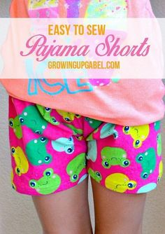 Easy Sewing Pajama Shorts for Summer. This is a beginner level sewing project. Perfect for lounging around in on a lazy Sunday!