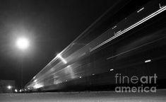"""Night Train"" photograph by James B. Toy. Amtrak's northbound Coast Starlight departs Salinas, California."