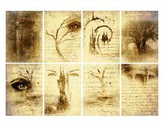 printable book of shadows | Free Book of Shadows Halloween ATC Backgrounds