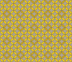 circle_leaf_linen fabric by holli_zollinger on Spoonflower - custom fabric