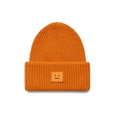 Emoji Face Embroidered Cotton Blend Ribbed Knit Daily Beanie Cap -- Awesome products selected by Anna Churchill