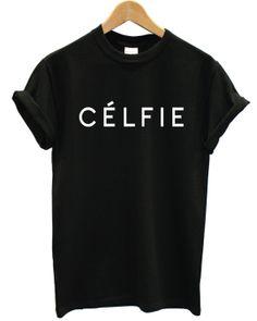 ligne celfie t shirt miaou seul en vogue celine paris par maxtor14u, $14.79