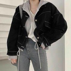 Korean Girl Fashion, Ulzzang Fashion, Korean Street Fashion, Kpop Fashion Outfits, Edgy Outfits, Korean Outfits, Grunge Outfits, Mode Outfits, Cute Casual Outfits