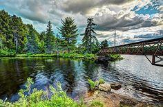 The Nicks Lake footbridge in Old Forge, New York. #ADK #Adirondacks