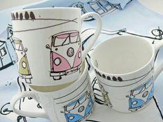 Husband loves VW vans. #mugs