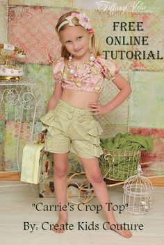 Sage's Sailor Shorts by Create Kids Couture Sewing Patterns Free, Free Sewing, Clothing Patterns, Sewing Tutorials, Free Pattern, Free Tutorials, Kids Patterns, Pattern Sewing, Top Pattern