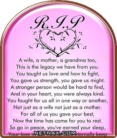 Image detail for -Rest In Peace RIP Graphics - Poems For Mom or Grandma Rip Poems, Rip Quotes, Aunt Quotes, Qoutes, Rip Grandma Quotes, Grandmother Quotes, Smile Quotes, Miss You Mom, I Love You Mom