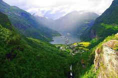 Norway, Geiranger Fjord; Photograph by Marie-Therese