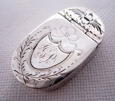 Solid Silver Georgian Snuff Box circa 1798, @brandi