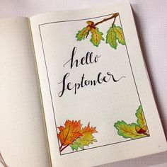 New Bullet Journal + new month set up =  #newbulletjournal #bulletjournal #bulletjournalcommunity #bulletjournaljunkies #monthlysetup #helloseptember
