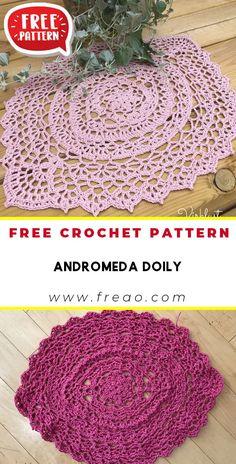 Cotton Crochet Patterns, Crochet Placemat Patterns, Free Crochet Doily Patterns, Crochet Stitches Free, Filet Crochet, Crochet Basics, Crochet Ideas, Crochet Fall, Knit Or Crochet
