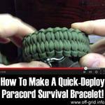 How To Make A Quick Deploy Paracord Survival Bracelet