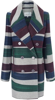 Multi Wool Double Breasted Coat
