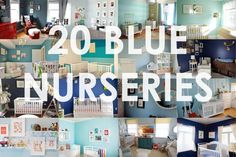 Blue Nursery Ideas -- From sweet baby blue to elegant deep navy, blue is anything but dull! | projectnursery.com