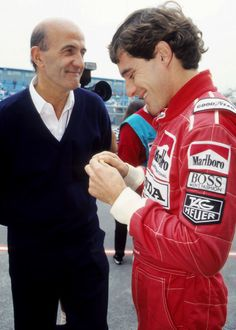 Brian Hart with Ayrton