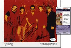 """TOTO Scarce Band Signed 10x8"""" Photo - 5 Sigs - JSA COA - UACC RD#289 in Collectibles, Autographs, Music 