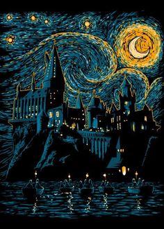 #hogwarts #hogwartsismyhome #ship #night #harrypotter #wallpaper #starrynight #star #moon #night #things Harry Potter Tumblr, Harry Potter Film, Harry Potter Kunst, Arte Do Harry Potter, Harry Potter Drawings, Harry Potter Pictures, Harry Potter Painting, Harry Potter Poster, Harry Potter Artwork