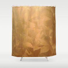 Trending copper home decor. Brushed Copper Metallic Shower Curtains by Corbin Henry for #Society6 #homedecor