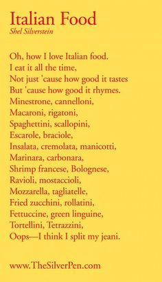 Italian Food...grew up with most of these! Lol