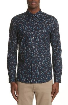 PS BY PAUL SMITH SLIM FIT LEAF PRINT SHIRT. #psbypaulsmith #cloth #