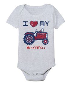 Another great find on #zulily! Athletic Heather 'I Love My Farmall Tractor' Bodysuit - Infant by International Harvester #zulilyfinds