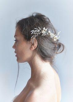 Pezzi nuziali dei capelli pettine di Set id 2 stile di CherryTwigs