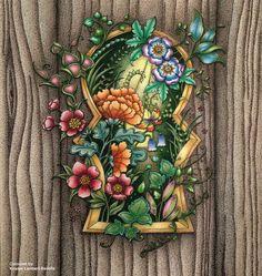"Gefällt 119 Mal, 19 Kommentare - Kristen Lambert-Bedelis (@kristenlambertbedelis) auf Instagram: ""'Through the Door into the World of Enchantia' for @johannabasford collaboration colouring project…"""