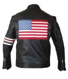 #Easy #Rider #Flag #Jacket  | http://www.bikerleatherjacketus.com/product/captain-america-easy-rider-flag-jacket/