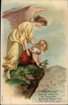 Dein Engel schütze dich auf Bergeshöhen, wenn dir der Abgrund droht, mög' er stets mit dir gehen! Schutzengel. (Guardian Angel) Angels