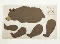 Other – diy bear paper card by enna – a unique product by enna on DaWanda