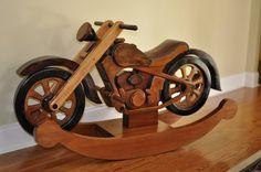 hardwood rocking motorcycle on etsy - its awesome!