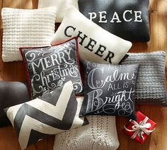 Painted Pillows And Floorcloths On Pinterest Christmas