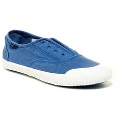 Sperry Sayel Slip-On Sneaker ($40) ❤ liked on Polyvore featuring shoes, sneakers, cobalt blu, lace sneakers, sperry, round toe sneakers, lace shoes and sperry footwear