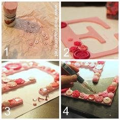 DIY Button Letter - {pictured TUTORIAL} | I Heart Nap Time - Easy recipes, DIY crafts, Homemaking