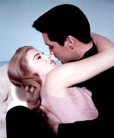 the60sbazaar: Ann Margret and Elvis Presley in a publicity shot for Viva Las Vegas