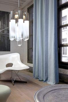 Copahome raamdecoratie. Marrakech overgordijn, gordijnen, raamdecoratie, lichtblauw, blauw/ rideau rideaux, Maroc, atmosphere, intérieur, fenêtre, décoration de fenêtre, bleu