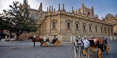 he vast semi-circular Plaza de España in Seville - Google Search