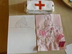 Ziek en Gezond: Hatsjoe! Nijntje (en Puk) zijn ziek. In bed liggen en een deken maken met papier of lapjes.