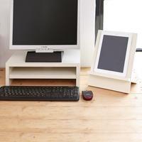 2 Shelf Monitor Stand White Monitor Stand Monitor Computer Riser